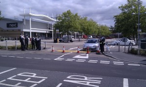 Police block access to the Tandem shopping centre